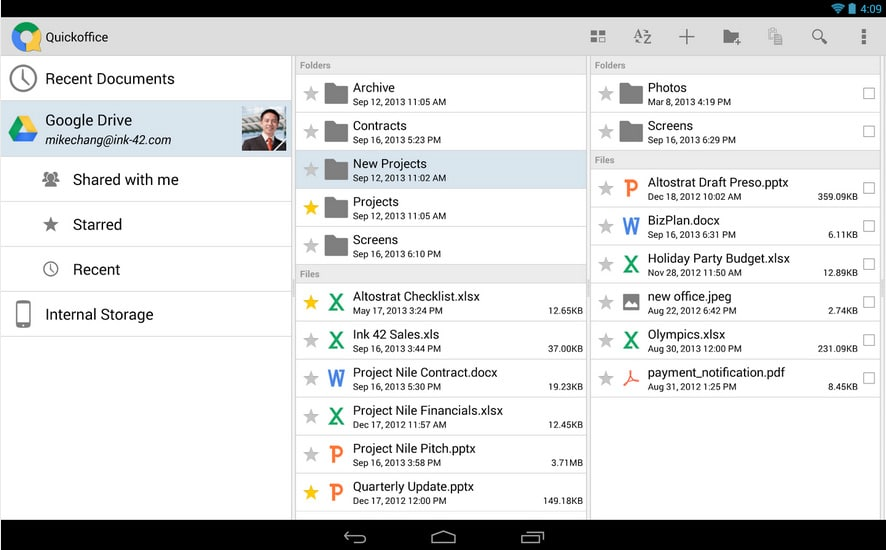 Quickoffice - Quelle: Google Play Store
