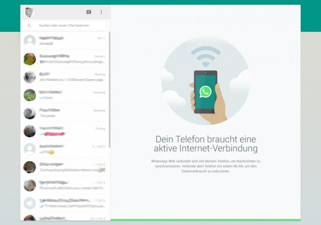 Whatsapp Web Oberfläche / © Android Digital